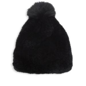 Surell NEW Rabit beanie hat black